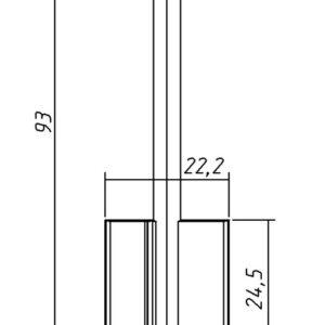 Заготовка ключа MTP-5 93/24,5/4,8мм. (Kale-2, Motura 5MT5BP) Конаково