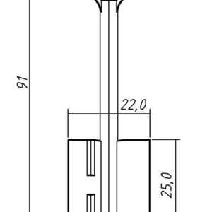 Заготовка ключа Класс-3  91/25/4,9 мм. Конаково