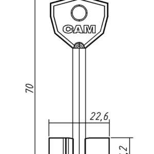 Заготовка ключа САМ-1 70/11,2/5,0мм. Конаково
