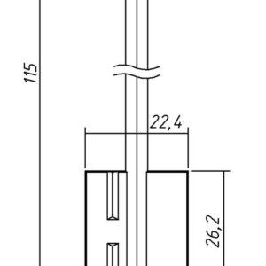 Заготовка ключа Сенат-2  115/26,2/4,9мм. Конаково