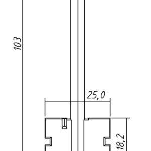 Заготовка ключа Цербер-3  103/18,2/5,2мм. Конаково