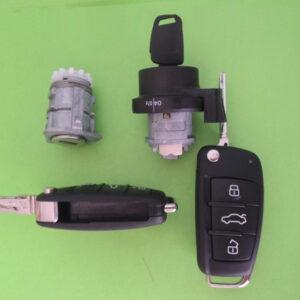 Audi — remote key 433Mhz, комплект замков и ключей, 8E0837220Q