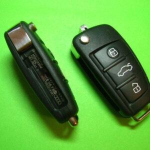 Audi — remote key 433Mhz 3 кнопки, 4F0837220AF 8E (без кейлеса)