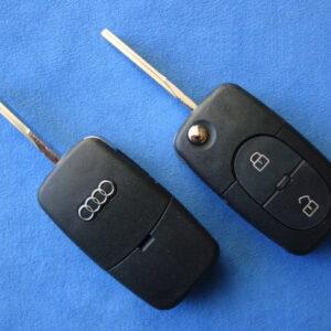 Audi — корпус выкидного ключа 2 кнопки, HU66 (1616)