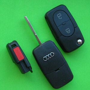 Audi — корпус выкидного ключа 2+1 кнопки, HU66