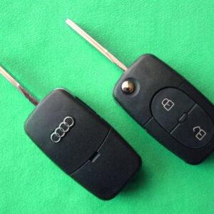 Audi — корпус выкидного ключа 2 кнопки, HU66 (2032)
