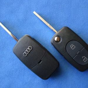 Audi — корпус выкидного ключа 2+1 кнопки (2032)