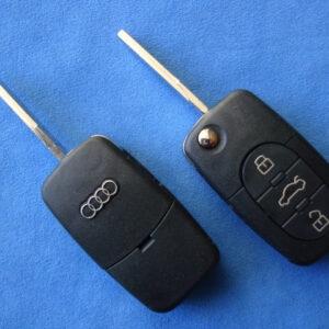 Audi — корпус выкидного ключа 3 кнопки, HU66 (2032)