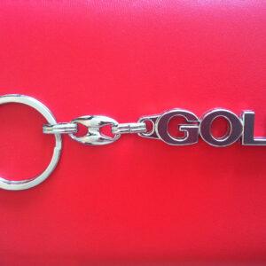 Брелок для ключей металлический оригинальный марка авто гольф GOLF