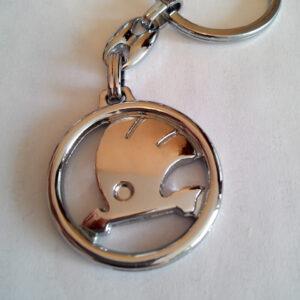Брелок для ключей металлический оригинальный марка авто шкода Skoda