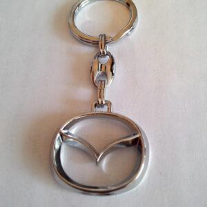 Брелок для ключей металлический оригинальный марка авто мазда Mazda